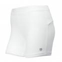 wilson - pantaloni scurti wilson compression, femei, alb, m
