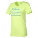 wilson - tricou wilson tennis champ, galben, femei, l