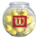 wilson - wilson tenis bol cu 24 de brelocuri bowl o`