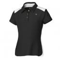 wilson - tricou wilson jr. ss polo, fete, negru/alb, l