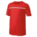 wilson - tricou wilson team crew, pentru juniori, rosu, s