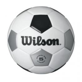 wilson - minge fotbal wilson traditional, alb/negru, marime 5