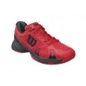 wilson - pantofi tenis wilson rush pro 2.5, pentru copii, rosu/negru, 31⅓