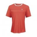 wilson - tricou wilson export crew, pentru barbati, rosu/alb, s