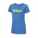 wilson - tricou wilson w script, pentru femei, albastru, xs