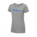 wilson - tricou wilson w script, pentru femei, gri/albastru, s