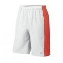 wilson - pantaloni scurti wilson export 9,barbati, alb/portocaliu, xl