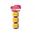 wilson - set mingi tenis starter red tball 3pack