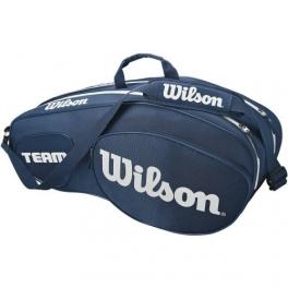 wilson - geanta wilson team iii, 6 rachete, albastru