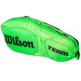 wilson - geanta wilson team iii, 3 rachete, verde