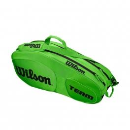 wilson - geanta wilson team iii, 6 rachete, verde