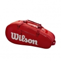 wilson - geanta wilson super tour 2 small, 6 rachete, rosu