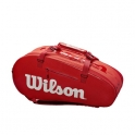 wilson - geanta wilson super tour 2 large, 9 rachete, rosu