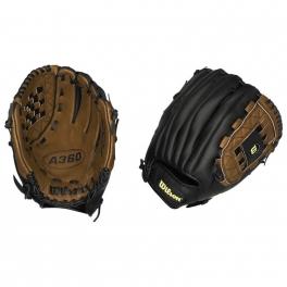 wilson - manusa de baseball wilson, mana dreapta, 12-inch, negru / maro