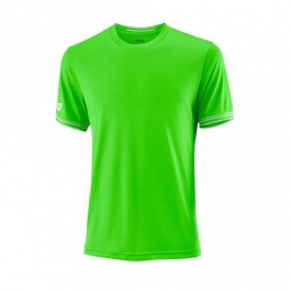 wilson - tricou wilson team solid crew, barbati, verde, l