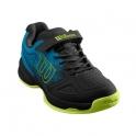 wilson - pantofi sport wilson stroke k, copii, negru/verde, 32 2/3
