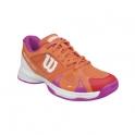 wilson - pantofi tenis wilson rush pro 2.5, pentru copii, portocaliu/roz/alb, 31⅓