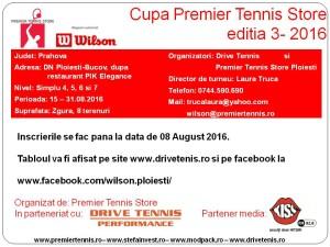 Cupa Premier Tennis editia 3 - 2016